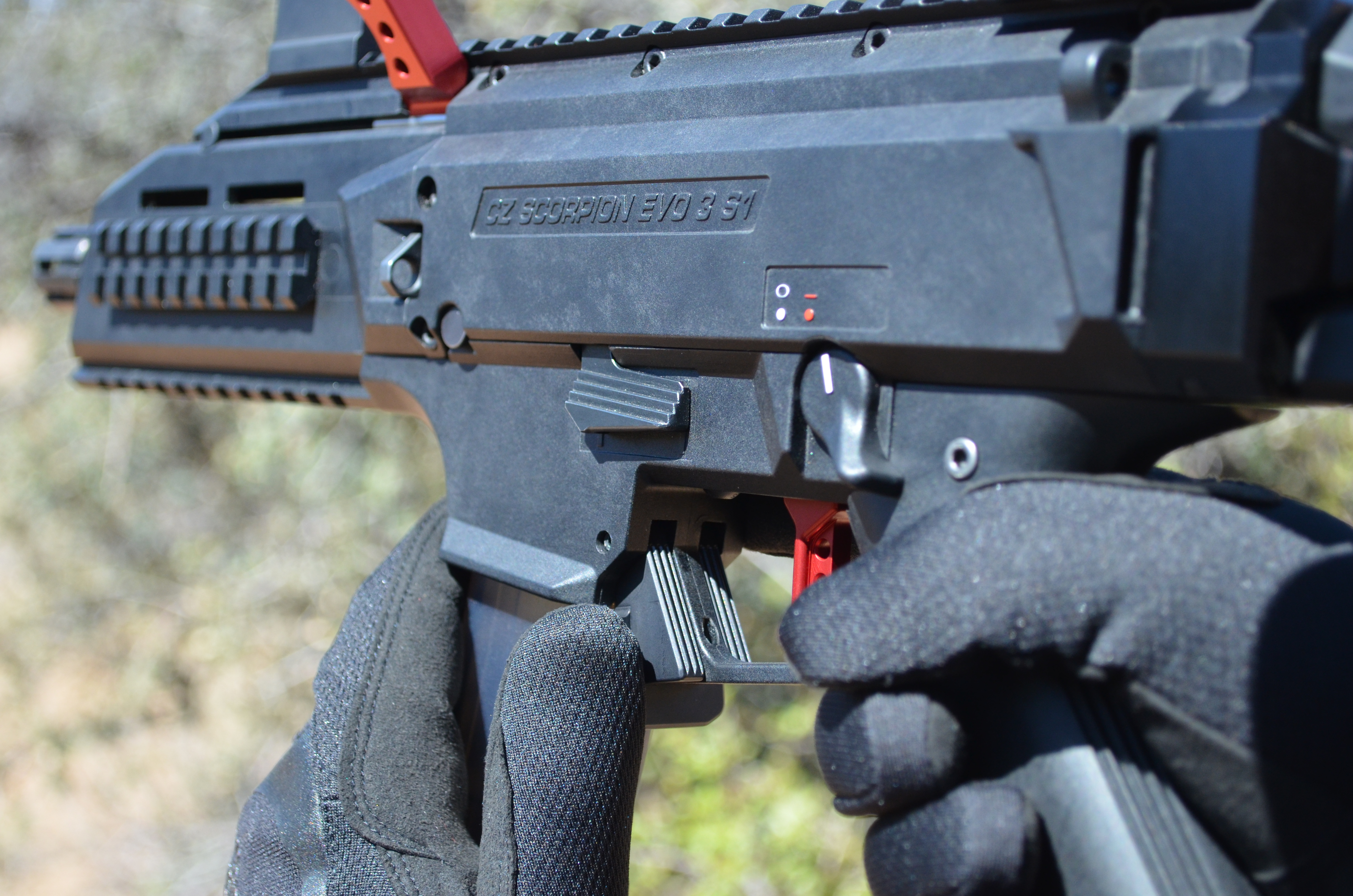 HBI Scorpion EVO Paddle Magazine Release CZ HB Industries
