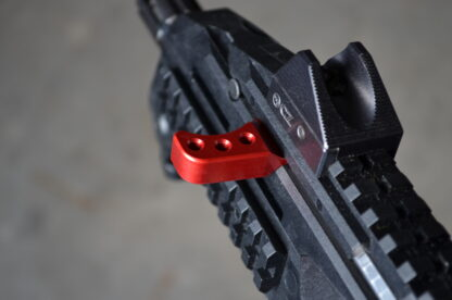 HBI THETA EXTENDED CHARGING HANDLE CZ SCORPION RED