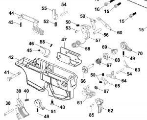 HB Industries CZ Scorpion Trigger Pack Hardware Kit diagram