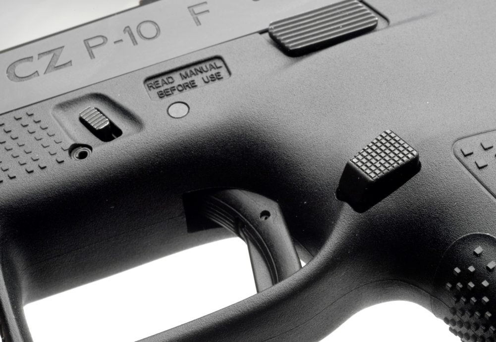 CZC P10 Extended Magazine Release, Reversible